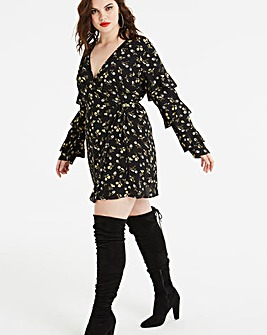 Fashion Union Daisy Print Dress