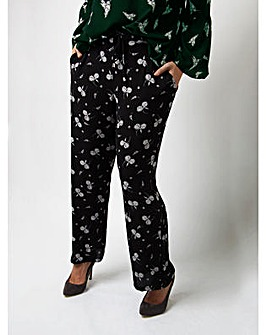 Lovedrobe GB Floral Crepe Trousers