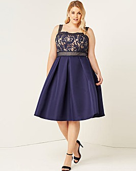Little Mistress Navy Crochet Dress