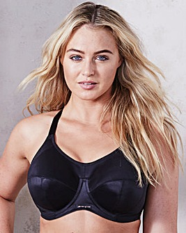 Elomi Energise Black Wired Sports Bra