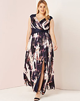 Little Mistress Multi Print Maxi Dress