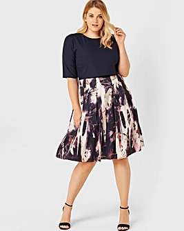 Little Mistress Floral 2 In 1 Dress