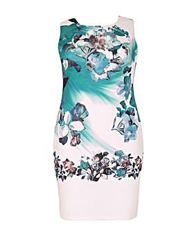 Samya Embellished Floral Print Dress