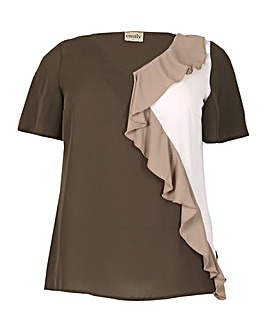 emily Frilled Contrast Top
