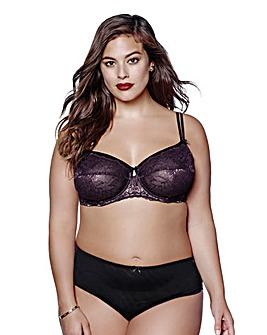 Ashley Graham Mesh/Lace Balcony Bra