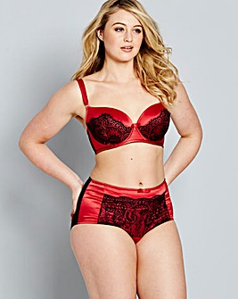 Always Aliza Satin And Lace Deep Briefs