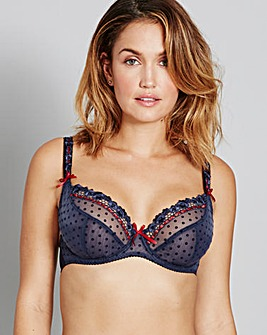 CurvyKate Princess Blueberry Balcony Bra