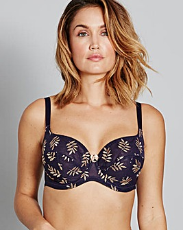 Panache Tango II Navy/Gold Balcony Bra