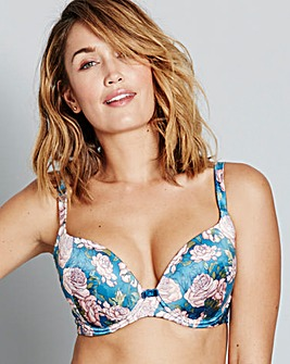 Gossard JapaneseRose TealPrint PlungeBra