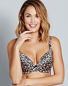 Gossard Animal Print Padded Plunge Bra