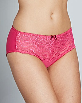 Playtex Flower Lace Bright Pink Briefs