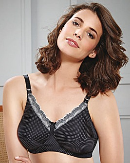 Royce Ava Black/Cream Spot Nursing Bra