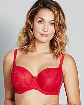 Panache Nouveau Cherry Red Balcony Bra