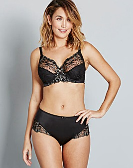 Triumph Modern Bloom Full Cup Black Bra