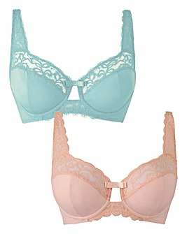 2 Pack Lottie Full Cup Mint/Blush Bras