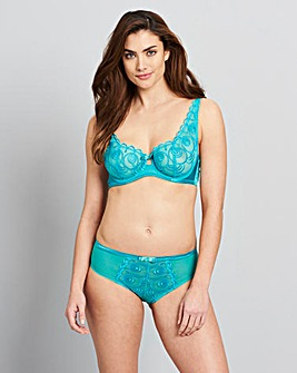 Gina Embroidered Spearmint Balcony Bra