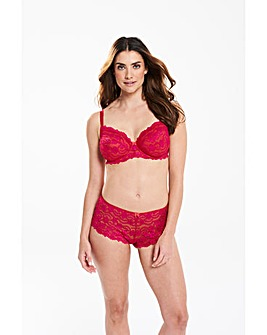 Daisy Lace Full Cup Hot Pink Bra