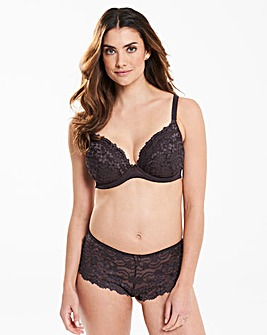 Daisy Lace Plunge Charcoal Bra