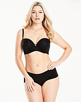 Solutions Superplunge Black Multiway Bra