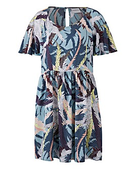 Junarose Printed Smock Dress