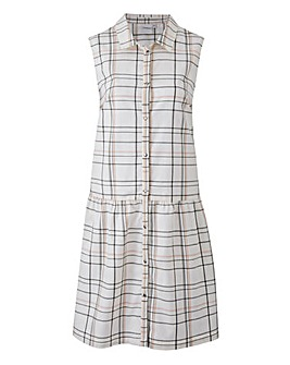 Junarose Checked Shirt Dress