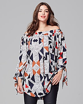 AX Paris Printed Bardot Tunic