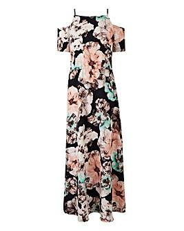 Grazia Floral Print Cold Shoulder Dress
