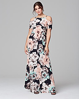 Grazia Floral Print Cold Shoulder Dress