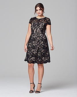Grazia Contract Lace Cap Sleeve Dress