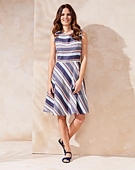 Lily & Me Stripe Fit & Flare Dress