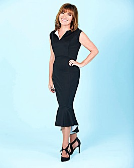 Lorraine Kelly Peplum Hem Scuba Dress