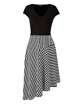 Scarlett & Jo Asymmetric Stripe Dress