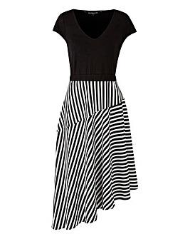 Scarlett & Jo Asymmetric Stripe Dress