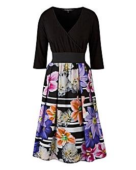 Scarlett & Jo Floral Print Twofor Dress