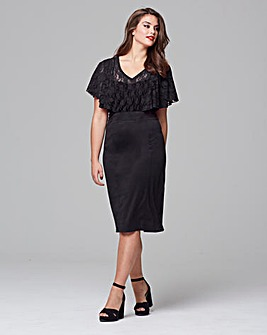 Scarlett & Jo Chevron Lace Front Dress