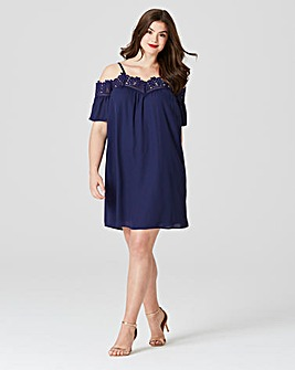 Lovedrobe Cornelli Trim Swing Dress