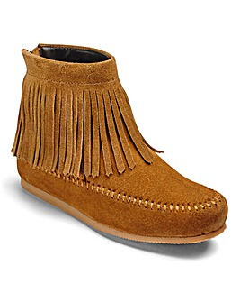 Sole Diva Fringed Ankle Boots EEE Fit