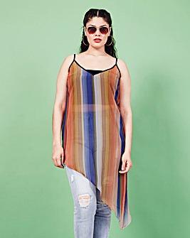 Simply Be Asymmetric Stripe Cami