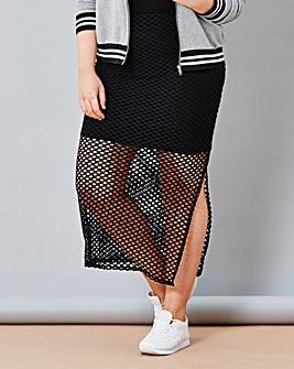 Simply Be Fishnet Skirt