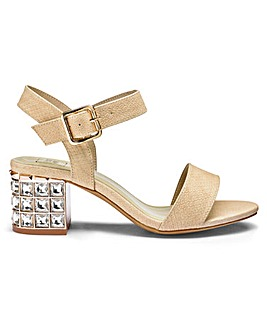 Sole Diva Jewelled Block Heels EEE Fit