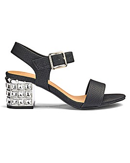Sole Diva Kaley Jewel Block Heel E Fit