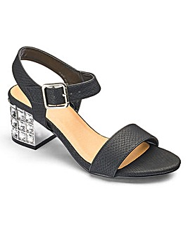 Kaley Jewel Block Heel EEE Fit