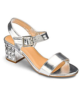 Sole Diva Kaley Jewel Block Heel EEE Fit