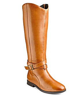 Sole Diva Leather Boots Ex Curvy + EEE