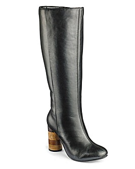 Sole Diva Leather Boot Super Curvy E Fit