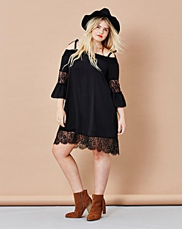 Simply Be Lace Trim Boho Dress