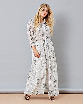 Simply Be Snake Print Maxi Shirt Dress