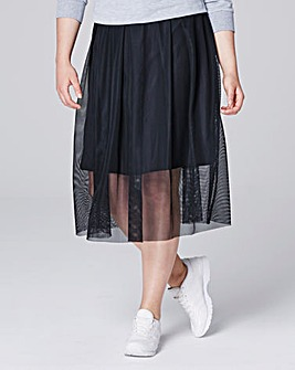 Simply Be Mesh Skirt