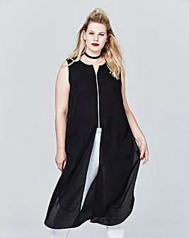 Simply Be Zip Front Maxi Tunic