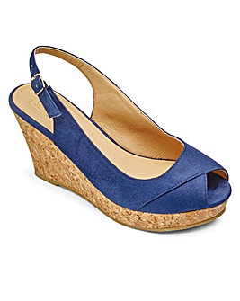 Sole Diva Slingback Wedges E Fit